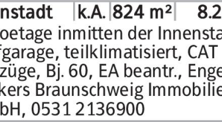 Gewerbe in Braunschweig (38100) 824m²