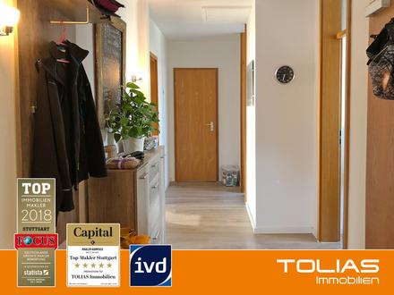 Hellauf begeistert! zentral, großzügig, voll-möbliert - 2-Zimmer-DG-Wohnung mit 2 Balkonen, S-Bahn
