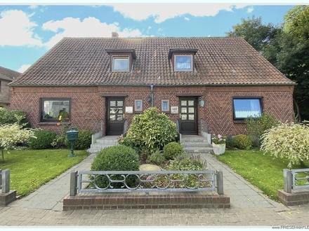 Wenige Schritte zum Dorfkern: Wohnhaus mit ELW und schönem großen Garten ruhig gelegen am Treenetal!