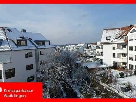 Lichtdurchflutete Dachgeschoss-Maisonette-Wohnung am Galgenberg in Waiblingen