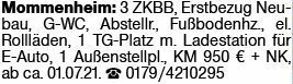 3-Zimmer Mietwohnung in Mommenheim (55278)