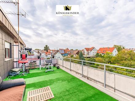 Dachterrassenwohnung: 3-Zimmerwohnung mit schönem Blick über Ludwigsburg-Oßweil