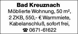 2-Zimmer Mietwohnung in Bad Kreuznach (55543)