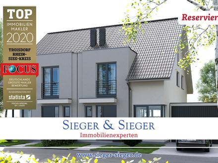 Neubau: 8 erstklassige Einfamilienhäuser (Doppelhäuser) in Troisdorf-Kriegsdorf