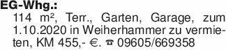EG-Whg.: 114 m², Terr., Garten...
