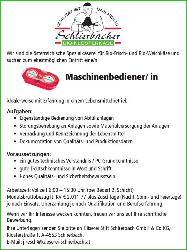 Wir sind die österreichische Spezialkäserei für Bio-Frisch- und Bio-Weichkäse und suchen zum ehestmöglichen Eintritt eine/n