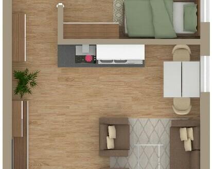 Grüner Wohnen in Altenbuch * 1 1/2-Zimmer-NEUBAU-Wohnung im Obergeschoss *