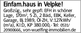 Einfam.haus in Velpke!