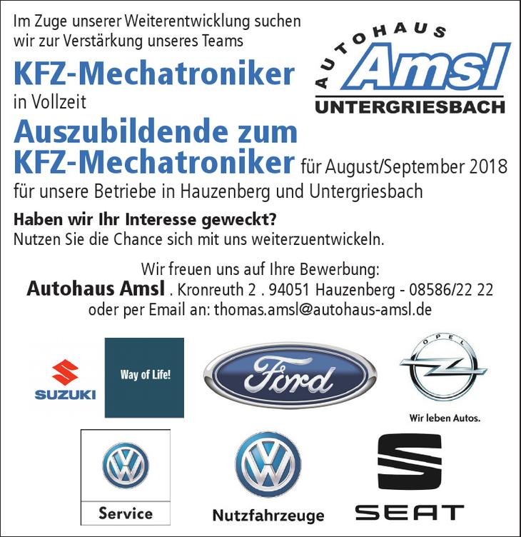 Im Zuge unserer Weiterentwicklung suchen wir zur Verstärkung unseres Teams KFZ-Mechatroniker in Vollzeit Auszubildende zum KFZ-Mechatroniker für August/September 2018 für unsere Betriebe in Hauzenberg