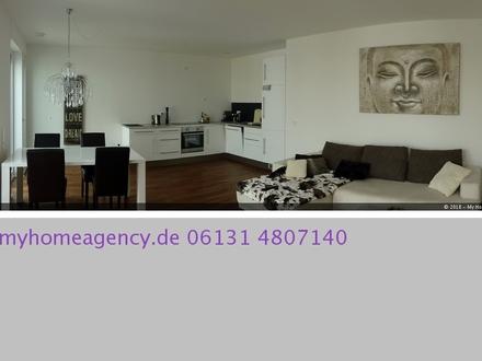 """Elegant möblierte 3-Zimmer-Wohnung """"AM WINTERHAFEN"""" mit RHEINBLICK"""