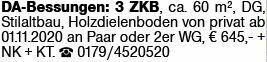 3-Zimmer Mietwohnung in Darmstadt (64295)
