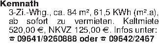Kemnath3-Zi.-Whg., ca. 84 m²,...