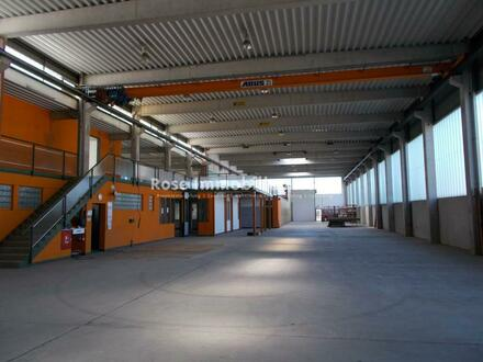 ROSE IMMOBILIEN KG: 2t + 5t Kranbahn helle Produktionshalle mit 7,80m Deckenhöhe!!