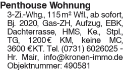 Penthouse Wohnung