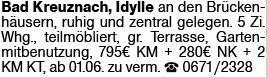 4-Zimmer Mietwohnung in Bad Kreuznach (55543)