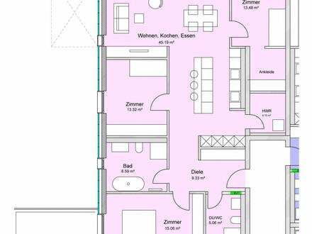 Attrakttive 4-Zi.-Wohnung mit Terrasse & Balkon!