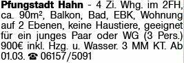4-Zimmer Mietwohnung in Pfungstadt (64319)