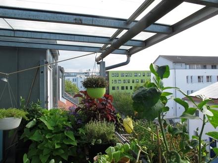 schöne 3 Zi. DG-Wohnung mit großer überdachter Dachterrasse in Ingolstadt