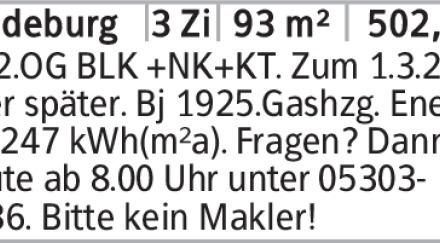 1.+2.OG BLK +NK+KT. Zum 1.3.20 oder später. Bj 1925.Gashzg. Energie 247...