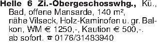 Helle 6 Zi.-Obergeschosswhg.,...