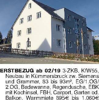 ERSTBEZUG ab 02/19 3-ZKB, KfW5...