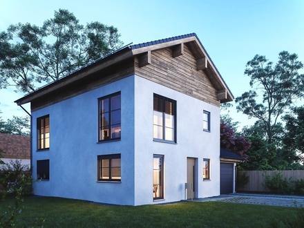 modern-klassisches Neubau-Landhaus mit außergewöhnlichem Grundriss