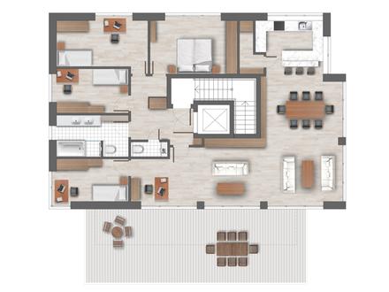 Penthouse - 6 Zimmer - 167 m²