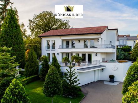 Exklusives Haus in ruhiger Lage - Stilvolles Anwesen - Große Terrassen - EBK - Schwimmbad + Sauna - Aufzug