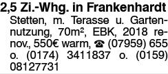 2,5 Zi. Whg in Frankenhardt stetten