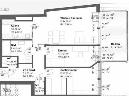 Wolfsberg - Am Weiher: Moderne 3-Zi-Wohnung - Erstbezug nach Generalsanierung / Umbau im 2.OG mit 14 m² Balkon | Lift