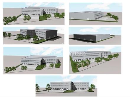 Projektierte Hallen- und Verwaltungsflächen