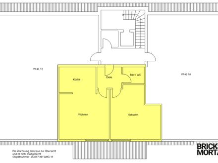 Wohnen im Alter! Sanierte 2-Zimmer-Wohnung gegenüber Tagespflege! 59m²!