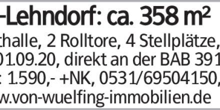 BS-Lehndorf: ca. 358 m²