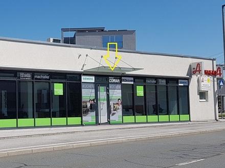Sbg. Stadt, neuwertige, moderne Geschäfts-/Ausstellungsfläche mit großer Schaufensterfront