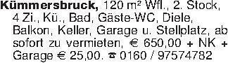 Kümmersbruck, 120 m² Wfl., 2...