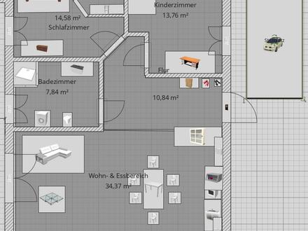 Erstbezug - ruhige 3 Zimmer Wohnung mit Garten/ Stellplatz