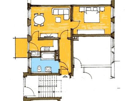 Helle, freundliche 2-Raum Wohnung mit Balkon in ruhiger zentraler Lage