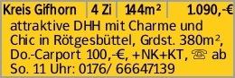 Kreis Gifhorn 4 Zi 144m² 1.090,-€ attraktive DHH mit Charme und Chic in...