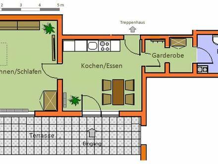 1-Zimmerwohnung mit Küche, Duschbad und Terrasse, Bernried