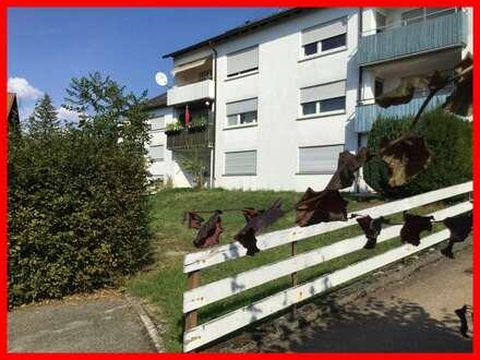 Helle 3 Zimmerwohnung in Hochparterrelage mit Balkon und Freistellplatz.