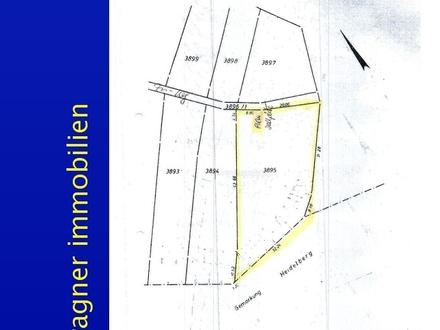 Gartengrundstück in Hanglage mit Gartenhaus und PKW Stellplatz in Dossenheim - kein Bauland