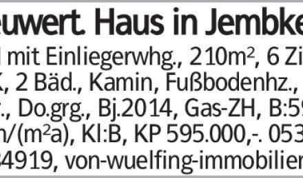 EFH mit Einliegerwhg., 210m², 6 Zi, EBK, 2 Bäd., Kamin, Fußbodenhz., 2...