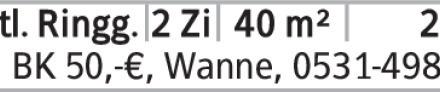 2-Zimmer Mietwohnung in Braunschweig (38118) 40m²