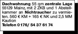 2-Zimmer Mietwohnung in Mainz (55129)