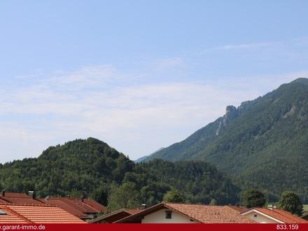 Blick in die Bergwelt vom Südbalkon aus
