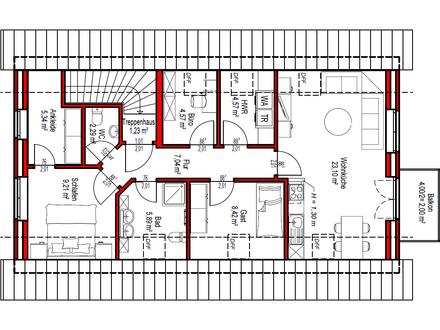 SELTENHEIT: DG-Wohnung im 2-Parteien-Wohnhaus