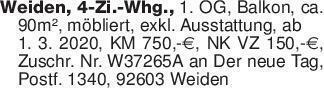Weiden, 4-Zi.-Whg., 1. OG, Bal...