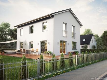 LAYER HAUS AG: Doppelhaushälfte mit Westterrasse inmitten schöner Natur! (Projektierter Neubau)
