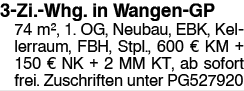 3-Zi.-Whg. in Wangen-GP