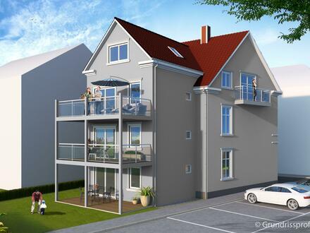 Visualisierung des Gebäudes von der Gartenseite